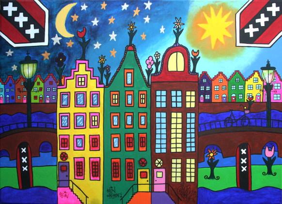 Panden in Amsterdam door Colin
